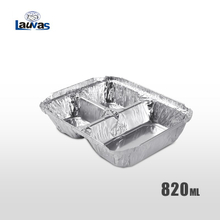 多格品3格款铝箔餐盒 820ml